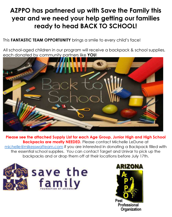 Save the Family Backpack Drive